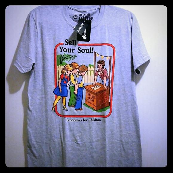 Hot Topic Shirts Nwt Black Matter Activities For Children Shirt